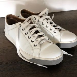 Johnston & Murphy all-white leather sneaker